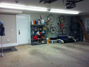 Organized Garage with Shelves & Racks